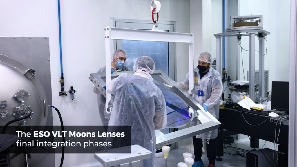 eso vlt moons final integration phases